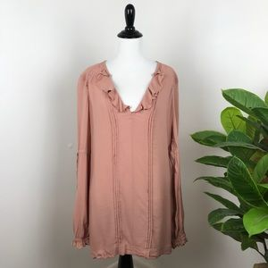Free people dusty rose peasant blouse